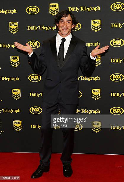 Johnathan Thurston of the Cowboys arrives at the Dally M Awards at Star City on September 29 2014 in Sydney Australia