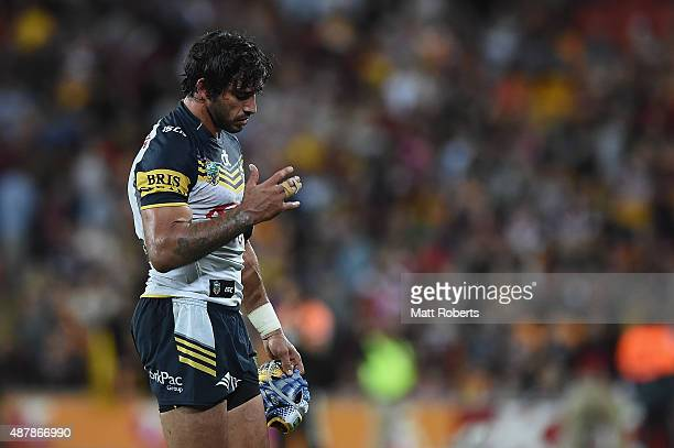 Johnathan Thurston of the Cowboys looks dejected after the NRL Qualifying Final match between the Brisbane Broncos and the North Queensland Cowboys...