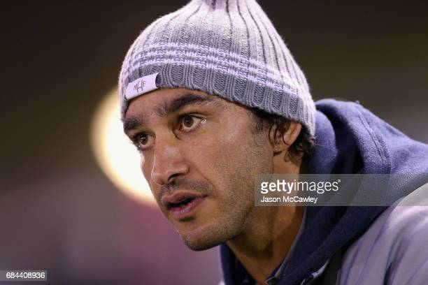 Johnathan Thurston of the Cowboys looks on during the round 11 NRL match between the Cronulla Sharks and the North Queensland Cowboys at Southern...