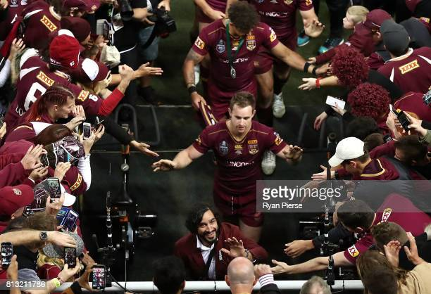 Johnathan Thurston of the Maroons walks from the ground after game three of the State Of Origin series between the Queensland Maroons and the New...
