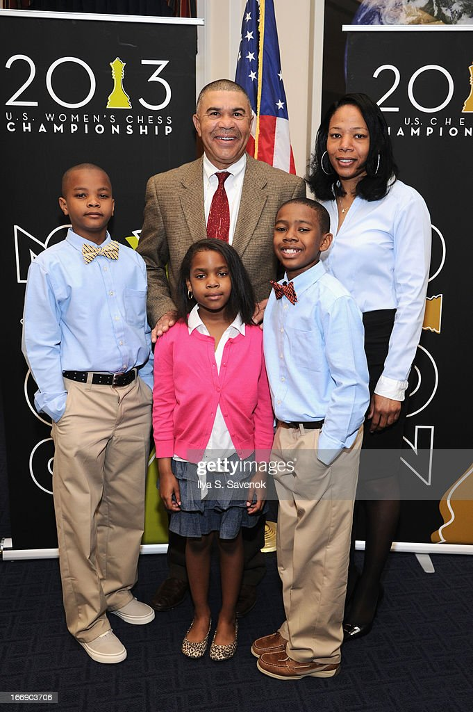 Johnathon Cosby, Dannielle Henderson, Rep. William 'Lacy' Clay (D-MO), Donnie Henderson and Cynthia Gill attend a special event held at United States Capitol Building on April 18, 2013 in Washington, DC.