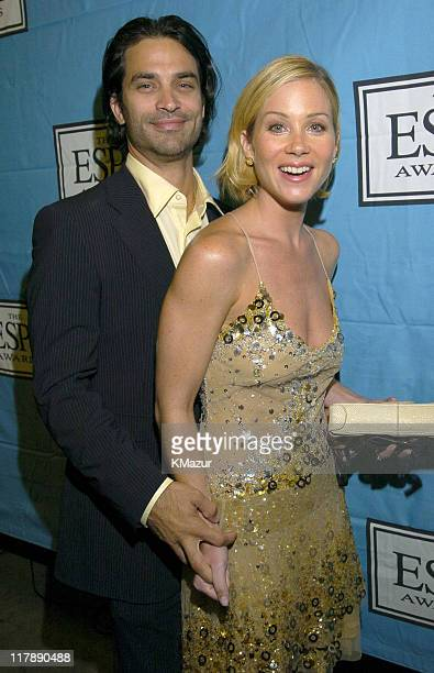 Johnathon Schaech and Christina Applegate during 2004 ESPY Awards Backstage and Audience at Kodak Theatre in Hollywood California United States