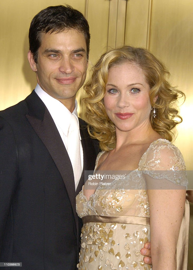 Johnathon Schaech and Christina Applegate, nominee Best Performance by a Leading Actress in a Musical for 'Sweet Charity'