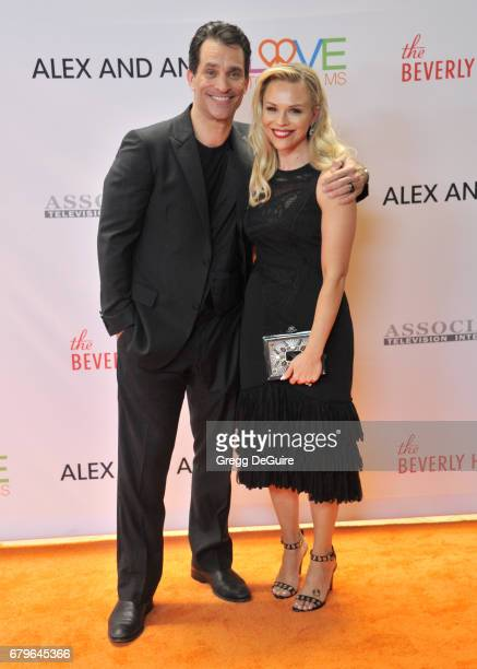 Johnathon Schaech and Julie Solomon arrive at the 24th Annual Race To Erase MS Gala at The Beverly Hilton Hotel on May 5 2017 in Beverly Hills...