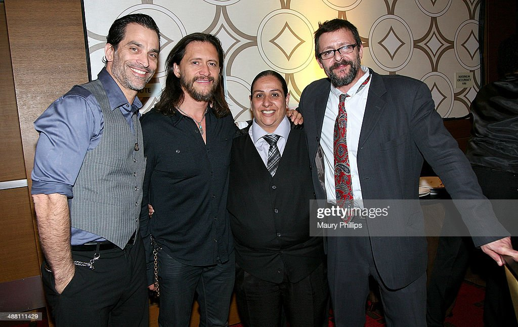 Johnathon Schaech, <a gi-track='captionPersonalityLinkClicked' href=/galleries/search?phrase=Clifton+Collins+Jr.&family=editorial&specificpeople=540063 ng-click='$event.stopPropagation()'>Clifton Collins Jr.</a>, guest abd <a gi-track='captionPersonalityLinkClicked' href=/galleries/search?phrase=Judd+Nelson&family=editorial&specificpeople=1541923 ng-click='$event.stopPropagation()'>Judd Nelson</a> attend The 2014 Lo Maximo Awards Dinner at JW Marriott Los Angeles at L.A. LIVE on May 3, 2014 in Los Angeles, California.