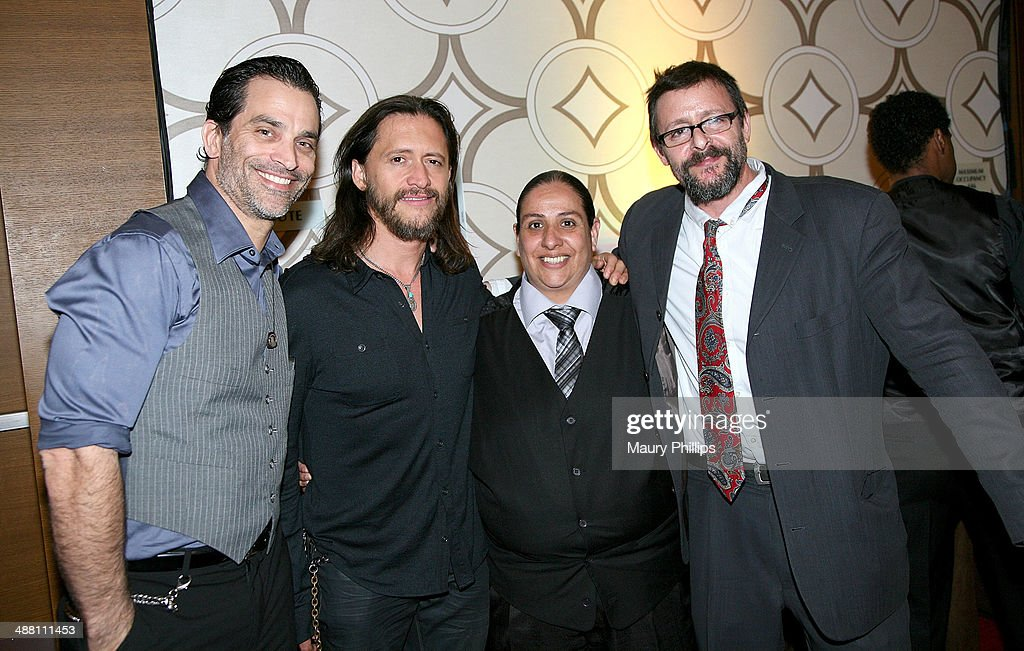 Johnathon Schaech, <a gi-track='captionPersonalityLinkClicked' href=/galleries/search?phrase=Clifton+Collins+Jr.&family=editorial&specificpeople=540063 ng-click='$event.stopPropagation()'>Clifton Collins Jr.</a>, guest and <a gi-track='captionPersonalityLinkClicked' href=/galleries/search?phrase=Judd+Nelson&family=editorial&specificpeople=1541923 ng-click='$event.stopPropagation()'>Judd Nelson</a> attend The 2014 Lo Maximo Awards Dinner at JW Marriott Los Angeles at L.A. LIVE on May 3, 2014 in Los Angeles, California.