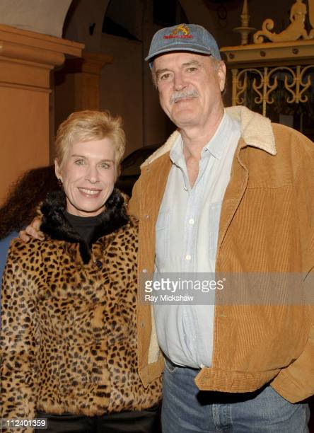 Johne Cleese and Alice Faye Cleese during 22nd Annual Santa Barbara International Film Festival 'Amazing Grace' Arrivals at Arlington Theatre in...