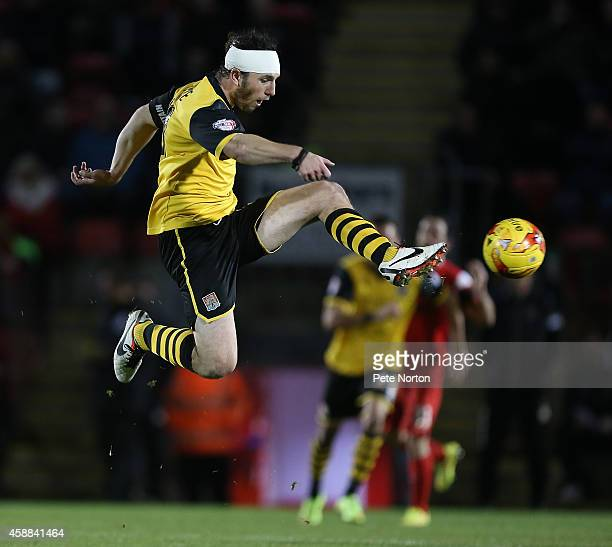 JohnJoe O'Toole of Northampton Town in action during the Johnstone's Paint Trophy Southern Section Quarter Final match between Leyton Orient and...