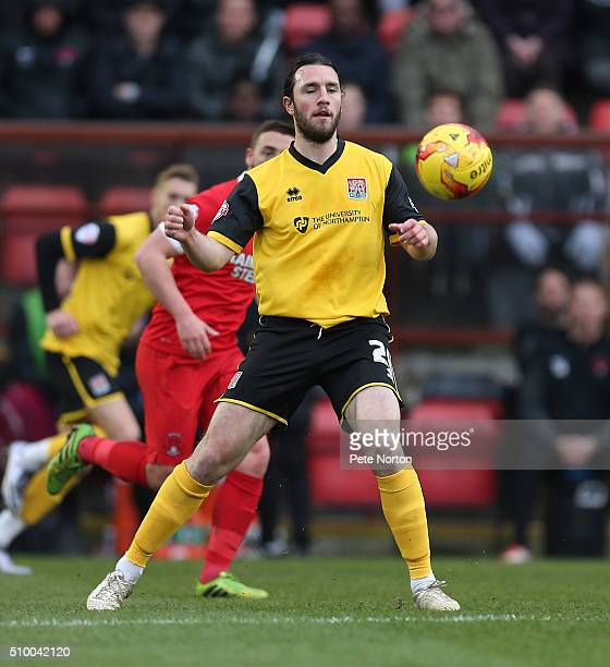 JohnJoe O'Toole of Northampton Town in action during the Sky Bet League Two match between Leyton Orient and Northampton Town at Matchroom Stadium on...