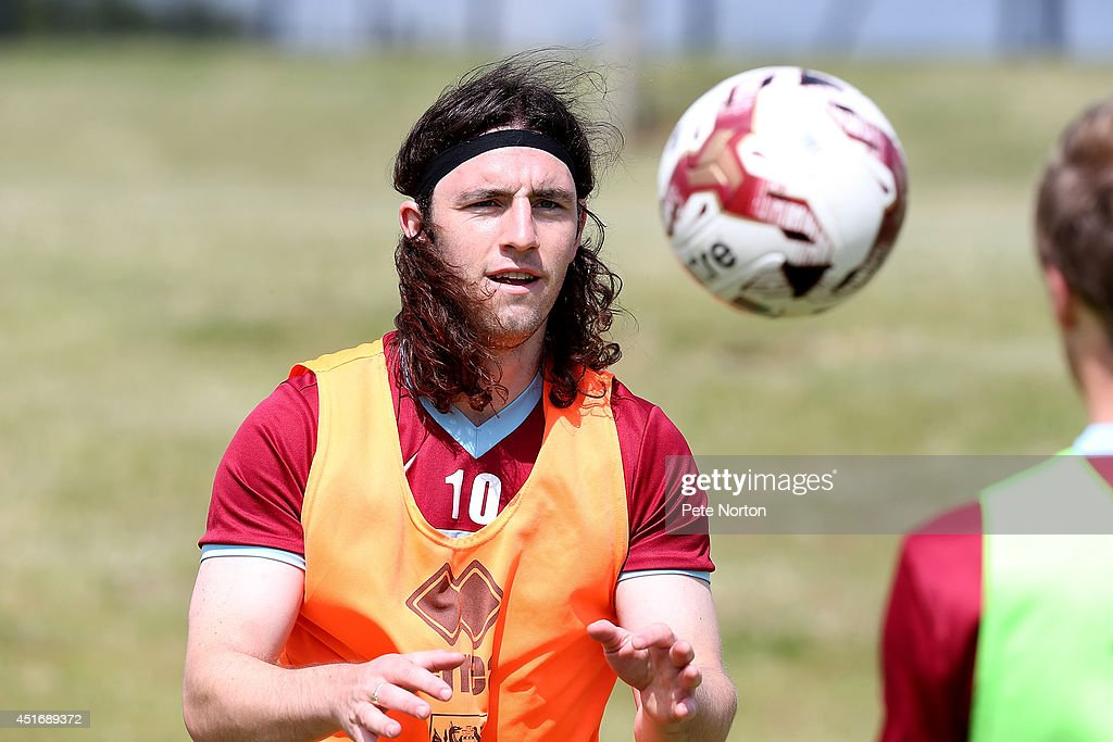 John-Joe O'Toole of Northampton Town throws a ball during a training session at Moulton College on July 4, 2014 in Northampton, United Kingdom.