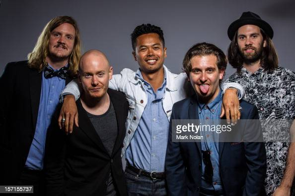 Johnny Aherne Dougy Mandagi Lorenzo Sillitto and Toby Dundas of The Temper Trap pose after winning the ARIA Award for Best Rock Release and Best...