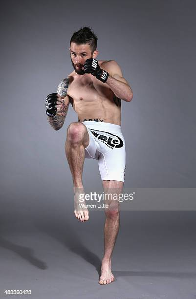Johnny Bedford of the USA poses for a portrait during a UFC photo session on April 8 2014 in Abu Dhabi United Arab Emirates
