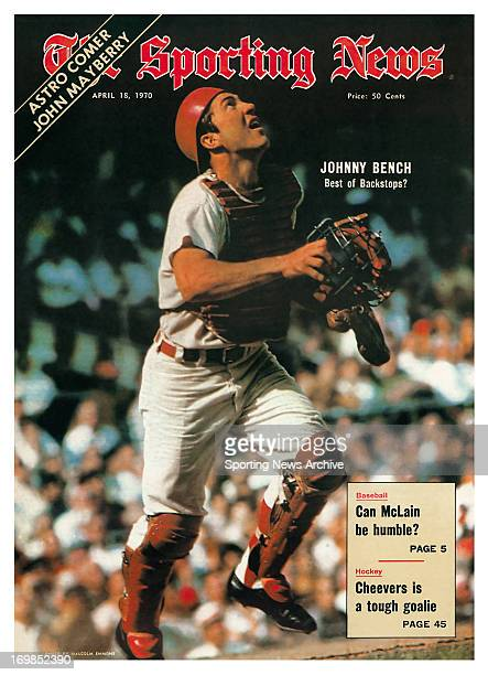 Cincinnati Reds Catcher Johnny Bench April 18 1970 Johnny Bench Best of the Backstops