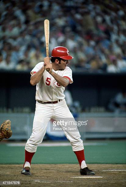 Johnny Bench of the Cincinnati Reds and the National League AllStars bats against the American League All Stars during Major League Baseball AllStar...