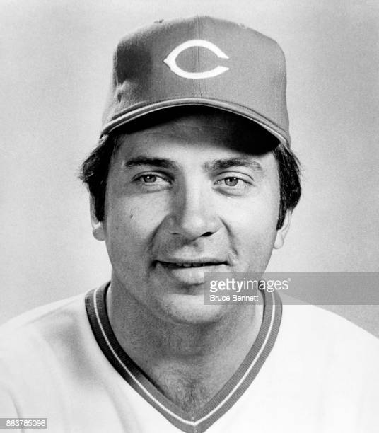 Johnny Bench of the Cincinnati Reds poses for a portrait during Spring Training circa March 1978 in Tampa Florida