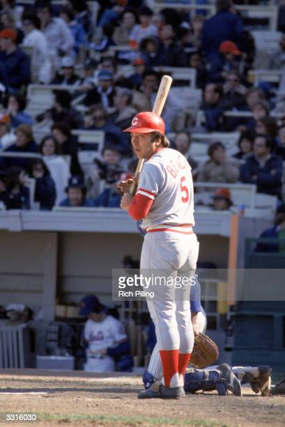 Johnny Bench of the Cincinnati Reds waits to bat during a 1978 Major League Baseball game circa May 1978