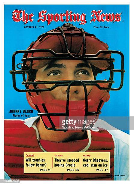 Cincinnati Reds Catcher Johnny Bench October 24 1970 Johnny Bench Player of the Year