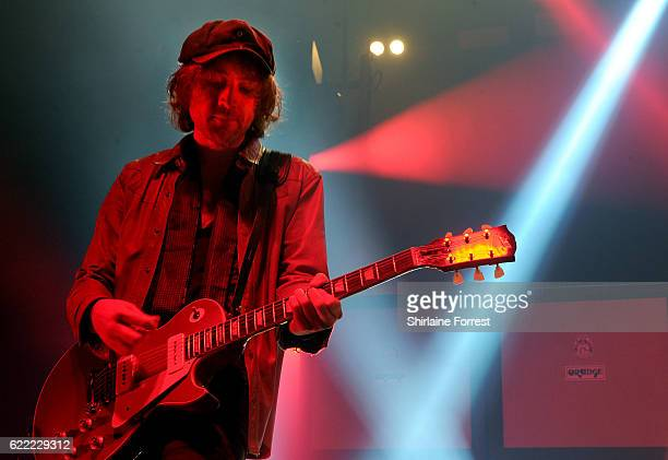 Johnny Bond of Catfish and the Bottlemen performs at Victoria Warehouse on November 10 2016 in Manchester England