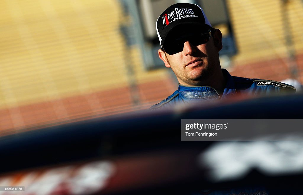 Johnny Borneman, driver of the #8 Twisted X Boots/Red Line Oil, during qualifying for the NASCAR K&N Pro Series West Casino Arizona 50 at Phoenix International Raceway on November 10, 2012 in Avondale, Arizona.