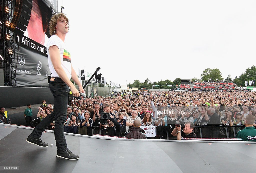 Johnny Borrell of Razorlight onstage during the 46664 Concert In Celebration Of Nelson Mandela's Life held at Hyde Park on June 27, 2008 in London, England.