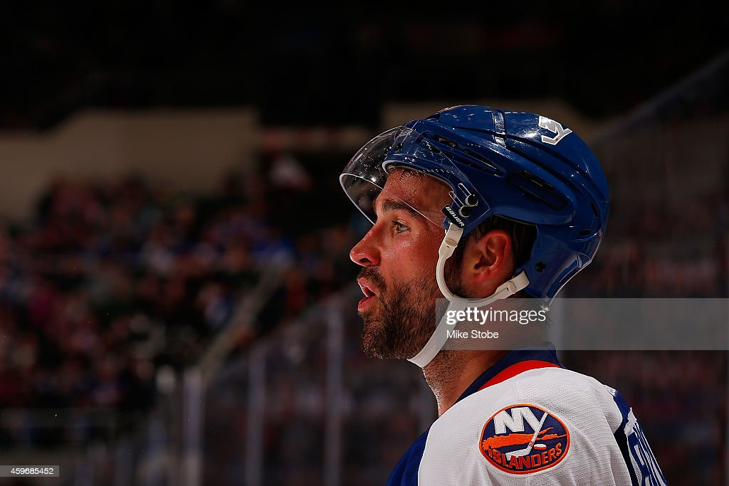 <a gi-track='captionPersonalityLinkClicked' href=/galleries/search?phrase=Johnny+Boychuk&family=editorial&specificpeople=2125695 ng-click='$event.stopPropagation()'>Johnny Boychuk</a> #55 of the New York Islanders skates against the Washington Capitals at Nassau Veterans Memorial Coliseum on November 26, 2014 in Uniondale, New York. The New York Islanders defeated the Washington Capitals 3-2.