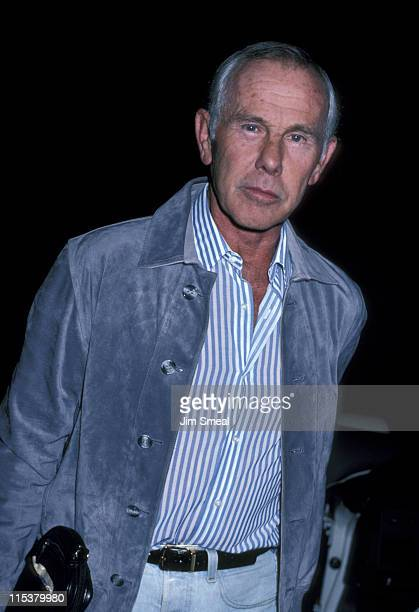 Johnny Carson during Johnny Carson At Spago's October 15 1986 at Spago's in Hollywood California United States