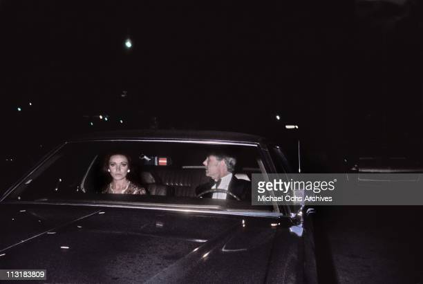 Johnny Carson host of the Tonight Show and fiancee Joanna Copeland attend an event in May 1971 in Los Angeles California