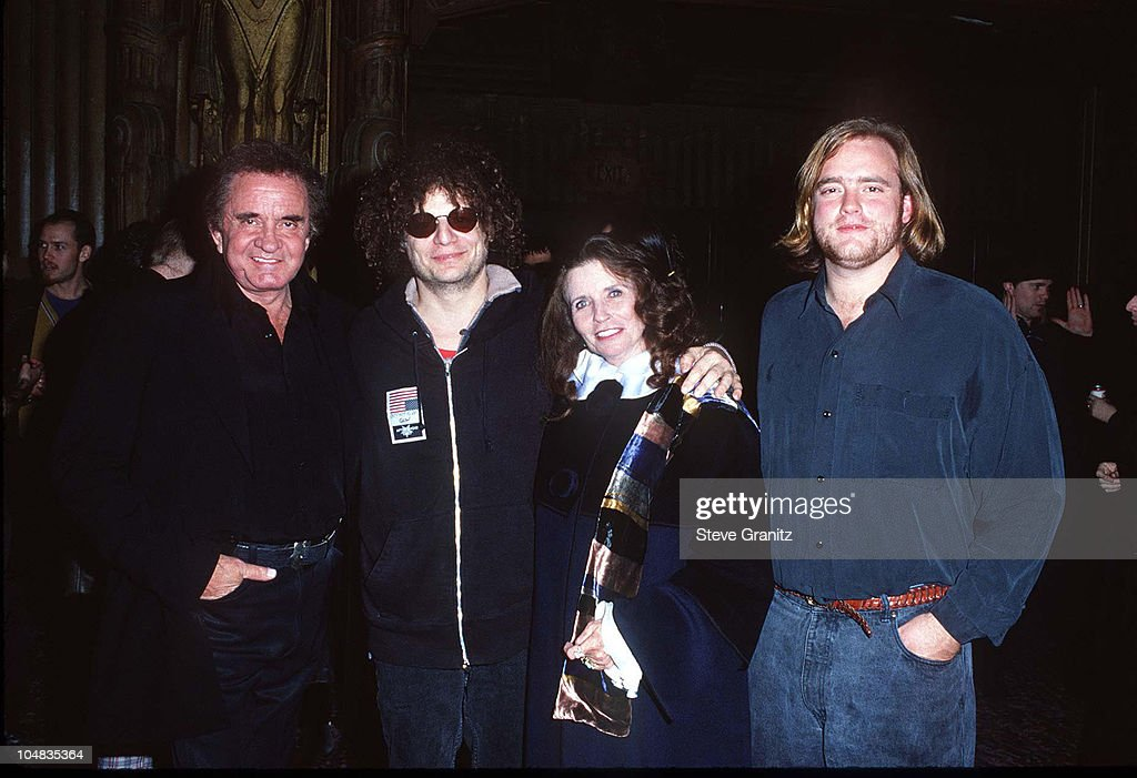 Johnny Cash, Don Was, June Carter Cash, & Son during Johnny Cash Concert Arrivals at The Pantages Theatre in Los Angeles, California, United States.
