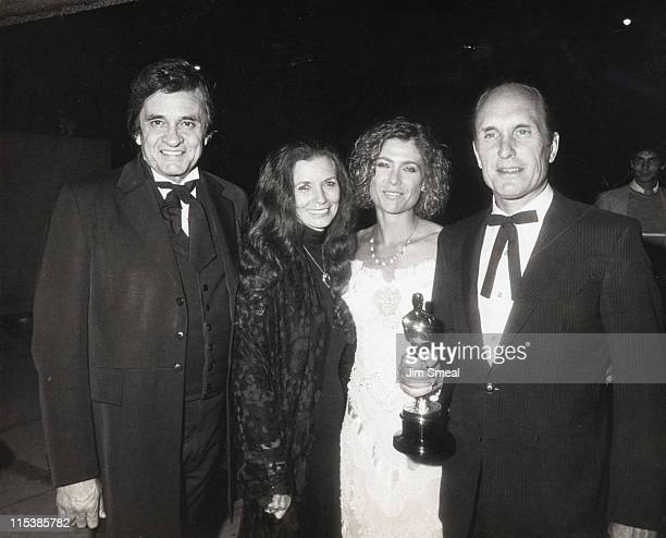 Johnny Cash June Carter Cash Gail Young and Robert Duvall winner of Best Actor for 'Tender Mercies'