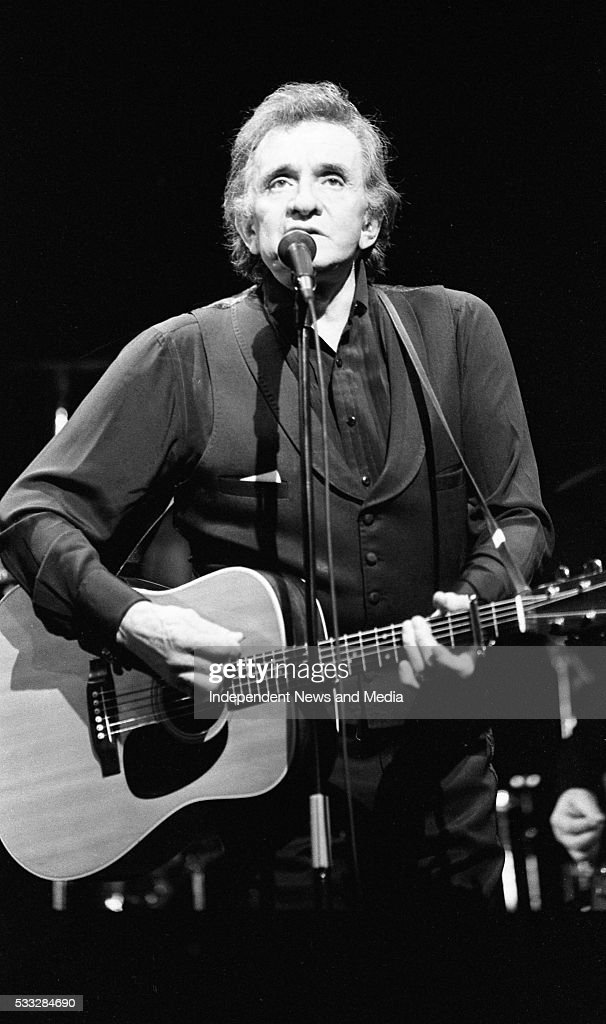 Johnny Cash performing at the Olympia Theatre Dublin