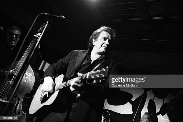 Johnny Cash performs at South by Southwest Music Festival in March 1994 in Austin TX
