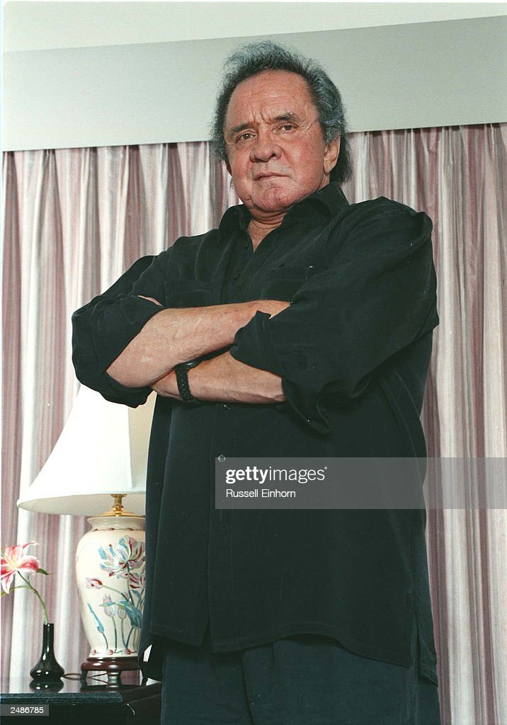 Johnny Cash poses for a picture November 14, 1996 in San Francisco, CA. As an emeritus member of both the Country Music and Rock & Roll Halls of Fame and winner of the 1991 Grammy Legend Award, and with more than a hundred and fifty charted hits and over 1,500 songs recorded, Johnny Cash is the Grand Old Man of Nashville. Johnny Cash died September 12, 2003 in a hospital in Nashville, Tennessee while being treated for a stomach complaint. He was 71.
