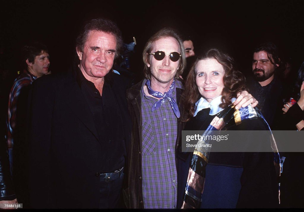 Johnny Cash & Tom Petty & Wife at the The Pantages Theatre in Los Angeles, California