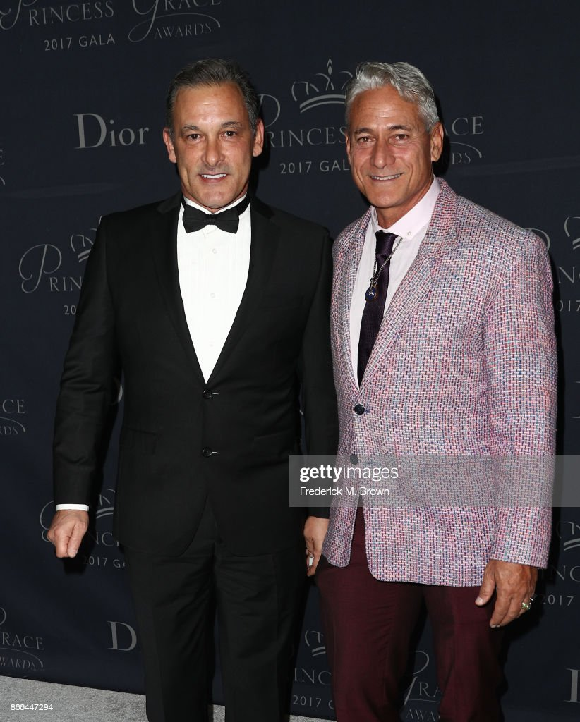 Johnny Chaillot (L) and Greg Louganis attend 2017 Princess Grace Awards Gala at The Beverly Hilton Hotel on October 25, 2017 in Beverly Hills, California.