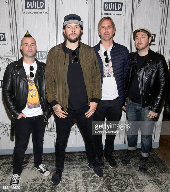 Johnny Christ M Shadows Synyster Gates and Zacky Vengeance of the band Avenged Sevenfold attend Build Presents 'The Stage' at Build Studio on May 15...