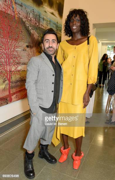Johnny Coca and Jenny Bastet attend Mulberry's Special Private View of Grayson Perry's 'The Most Popular Art Exhibition Ever' at The Serpentine...