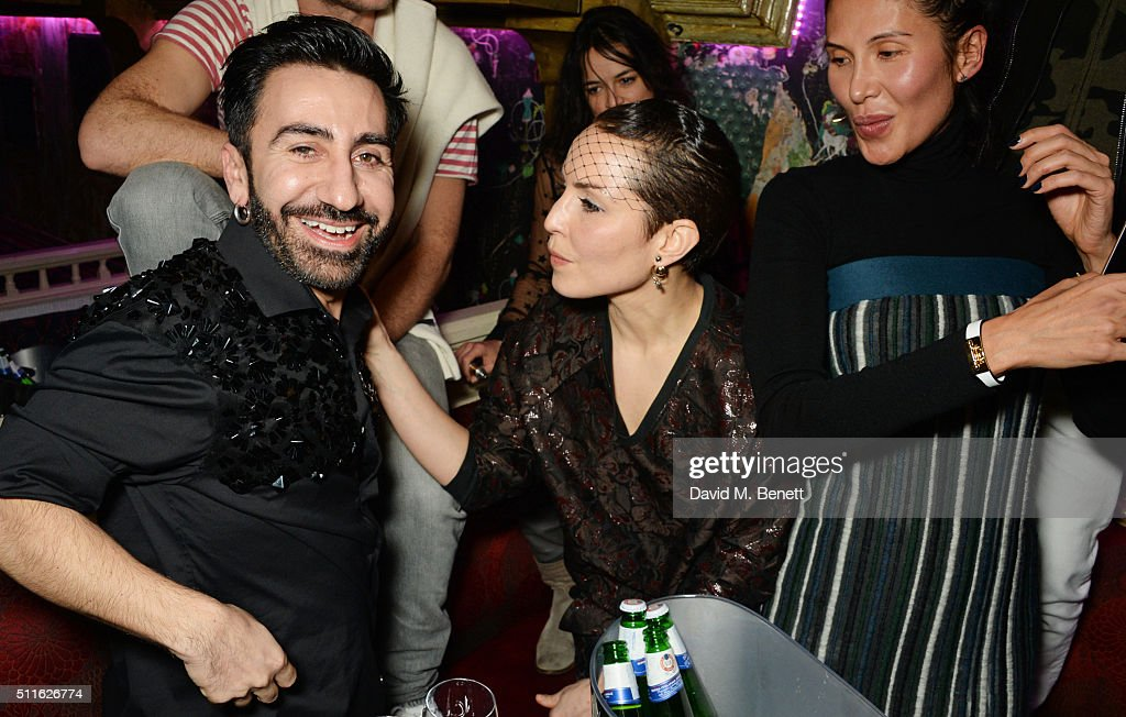 Johnny Coca Michelle Rodriguez Noomi Rapace and Goga Ashkenazi attend the Mulberry LFW Autumn/Winter 2016 Show After Party at The Box on February 21...