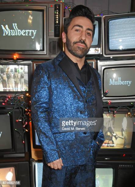 Johnny Coca Mulberry's Creative Director attends Mulberry's 'It's Not Quite Christmas' party on November 15 2017 in London England