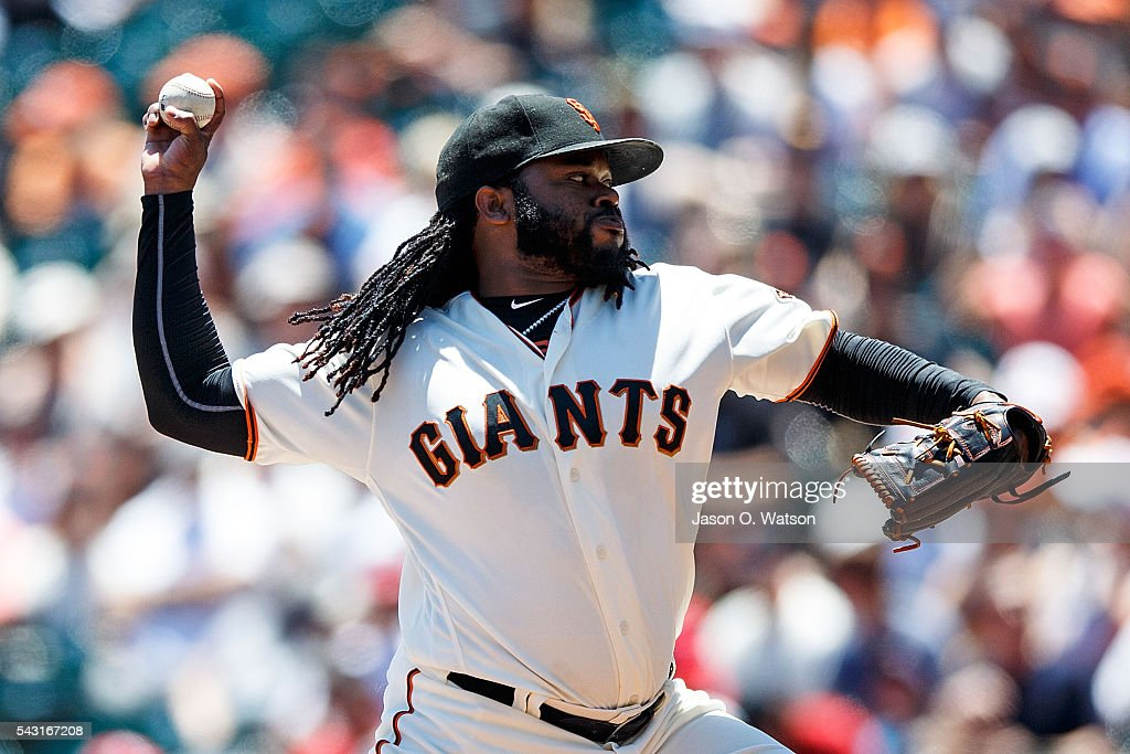 <a gi-track='captionPersonalityLinkClicked' href=/galleries/search?phrase=Johnny+Cueto&family=editorial&specificpeople=4921735 ng-click='$event.stopPropagation()'>Johnny Cueto</a> #47 of the San Francisco Giants pitches against the Philadelphia Phillies during the first inning at AT&T Park on June 26, 2016 in San Francisco, California.