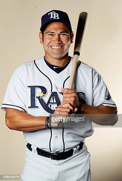 Johnny Damon of the Tampa Bay Rays poses for a portrait during the Tampa Bay Rays Photo Day on February 22 2011 at the Charlotte Sports Complex in...