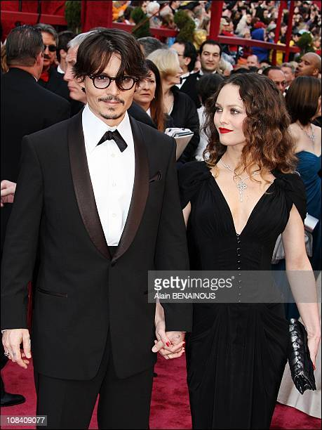 Johnny Deep and Vanessa Paradis in Los Angeles United States on February 24th 2008