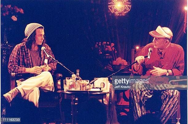 Johnny Depp and Hunter S Thompson at an event for Fear and Loathing in Los Vegas in Los Angeles in 1996