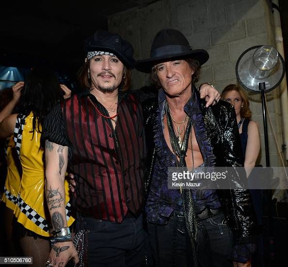 Johnny Depp and Joe Perry attend The 58th GRAMMY Awards at Staples Center on February 15 2016 in Los Angeles California