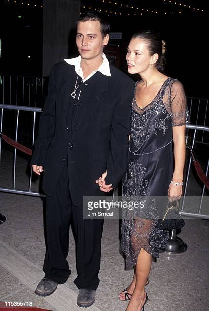 Johnny Depp and Kate Moss during 'Donnie Brasco' Premiere at Century City Cineplex Odeon Cinemas in Century City California United States