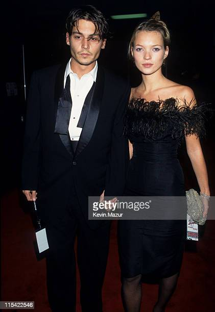 Johnny Depp and Kate Moss during 'Sinatra 80 Years My Way' Birthday Celebration at Shrine Auditorium in Los Angeles California United States