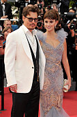 Johnny Depp and Penelope Cruz at the premiere of 'Pirates of the Caribbean On Stranger Tides' during the 64th Cannes International Film Festival