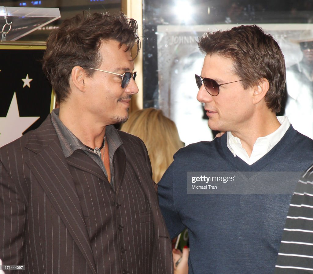 <a gi-track='captionPersonalityLinkClicked' href=/galleries/search?phrase=Johnny+Depp&family=editorial&specificpeople=202150 ng-click='$event.stopPropagation()'>Johnny Depp</a> (L) and <a gi-track='captionPersonalityLinkClicked' href=/galleries/search?phrase=Tom+Cruise&family=editorial&specificpeople=156405 ng-click='$event.stopPropagation()'>Tom Cruise</a> attend the ceremony honoring Jerry Bruckheimer with a Star on The Hollywood Walk of Fame held in front of El Capitan Theatre on June 24, 2013 in Hollywood, California.