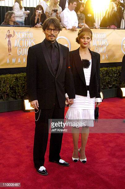 Johnny Depp and Vanessa Paradis during 2005 Screen Actors Guild Awards Arrivals at The Shrine in Los Angeles California United States