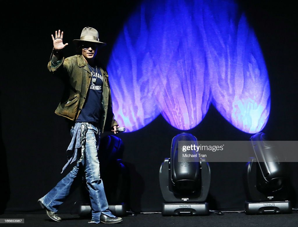 Johnny Depp appears at a Walt Disney Studios Motion Pictures presentation to promote the upcoming film 'The Lone Ranger' held at The Colosseum at Caesars Palace during CinemaCon, the official convention of the National Association of Theatre Owners on April 17, 2013 in Las Vegas, Nevada.