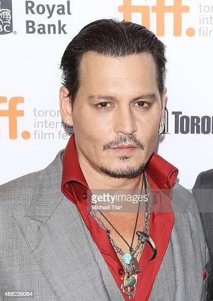 Johnny Depp arrives at the 'Black Mass' premiere during 2015 Toronto International Film Festival held at The Elgin Theatre on September 14 2015 in...